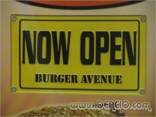 Now Open, Burger Avenue