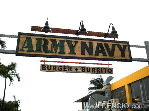 Army Navy Burger and Burrito