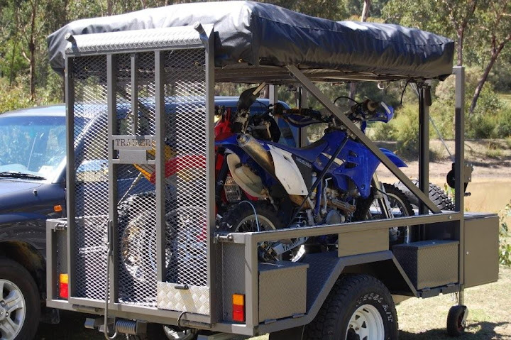 Motorbike Camper Trailer Offroad 4wd 4x4 With Tent Fits 3 X Motor