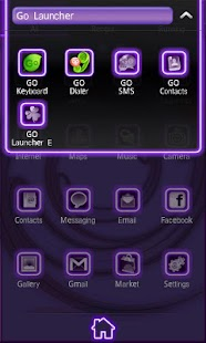 Neon Purple Style Go Launcher - screenshot thumbnail
