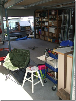 Brian's shed - my sewing spot