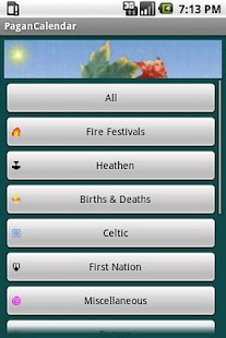 Pagan Calendar - screenshot thumbnail