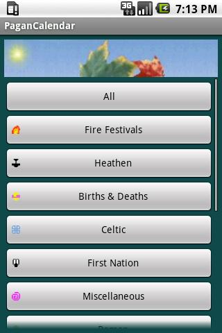 Pagan Calendar - screenshot
