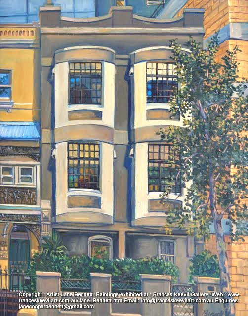 Victoria st Darlinghurst painted by Jane Bennett artist