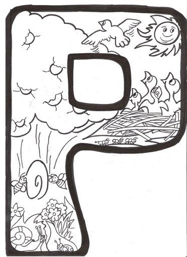 La Primera Para Colorear Letras Ilustradas Primavera