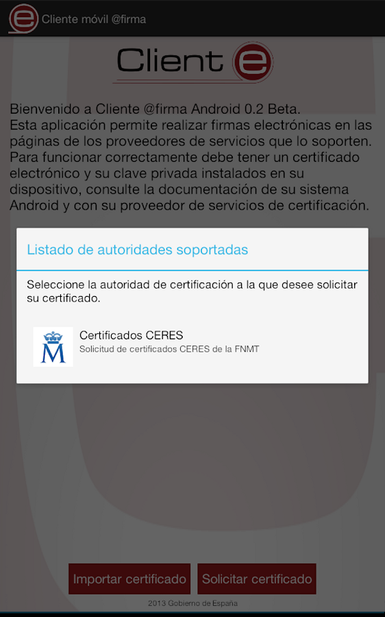 Cliente movil @firma- screenshot