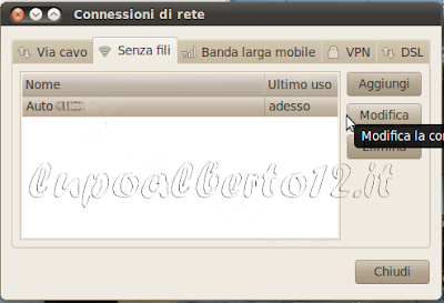 Selezione rete Wi-Fi