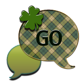 GO SMS THEME/ShamrockPlaid4U