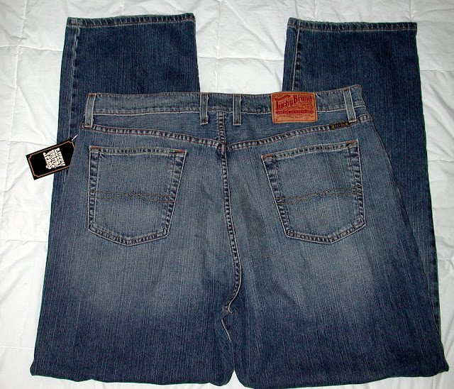 NWT Lucky Brand Relaxed Straight Mens Jeans 38 36 34