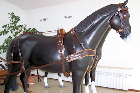 Leather horse harness style 15 carriage driving