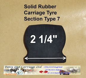Horse Carriage Rubber Tyre Type 7