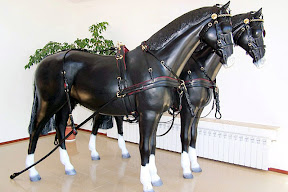 Leather horse harness style 13 carriage driving