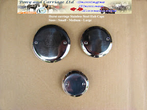 tainless Steel Flat Face Threaded Horse Carriage Hub Cap