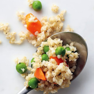 Bulgur with Peas and Carrots.