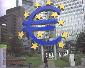 Statue of the Euro Symbol