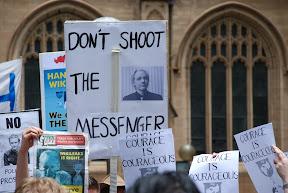 Assange protests
