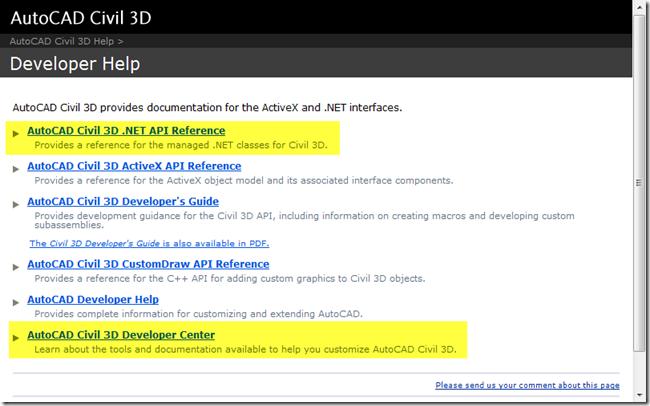 Civil 3D Reminders: Civil 3D 2010 – vb NET Samples