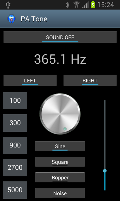 Pro Audio Tone Generator- screenshot