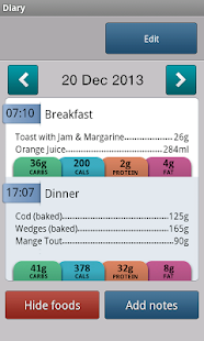 Carbs & Cals - Diabetes & Diet - screenshot thumbnail