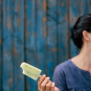 Honeydew-and-Cream Ice Pops with Pistachios