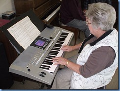 Barbara Powell enjoying the Yamaha PSR-710