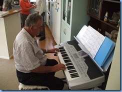 Ken Mahy playing the Korg Pa1X - the lessons are starting to pay-off Ken - nice playing!
