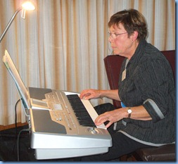 Yvonne Moller playing her Korg Pa1X