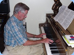 Michael Bramley played for us the First Movement of Beethoven's Moonlight Sonata and all from memory!