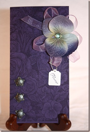 purple hydrangea wedding card1