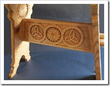 Medieval Oak Stool-3-Stretcher