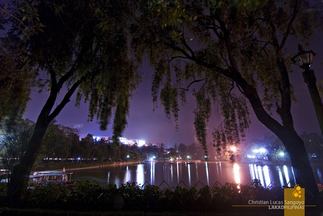 Burnham Park's Lagoon at Night