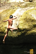 Jumping Down at Sagada's Bomod-Ok Falls
