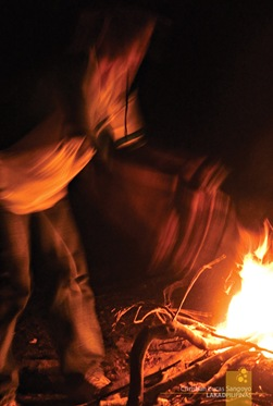The Chicken Going Through the Fire at Sagada's Lake Danum