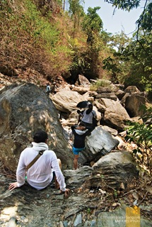 The Bouldered Path En Route to Apyas Waterfalls