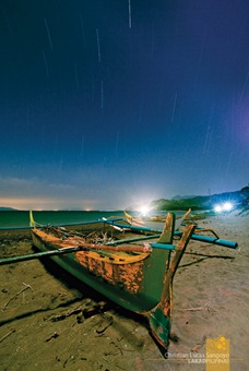 Star Trails at Abra de Ilog's Amazona Beach