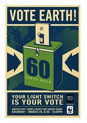 Shepard Fairey's Earth Hour Poster