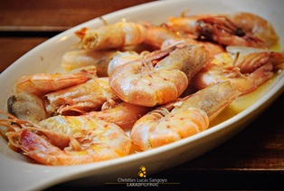 Buttered Shrimp at Resto Grill sa Baybay in Bacolod City