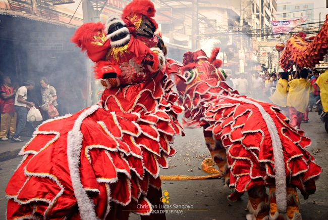 Chinese Dragon Dance at the Manila Chinatown