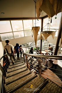 Grand Spiral Staircase to the Second Floor at Starbucks Tagaytay
