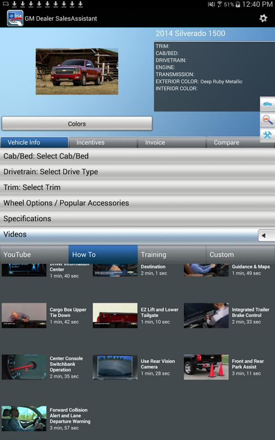 GM Dealer SalesAssistant - screenshot