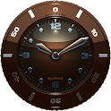 Clock Widget brown HQ