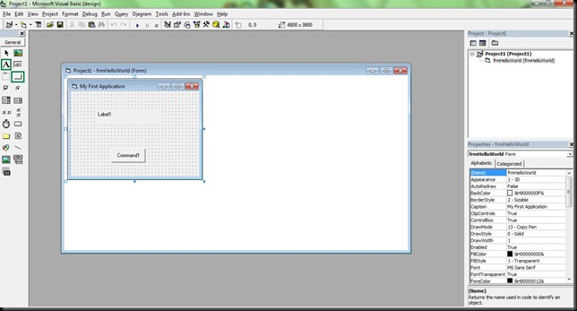 Creating Your First Visual Basic Applet : A Hello World