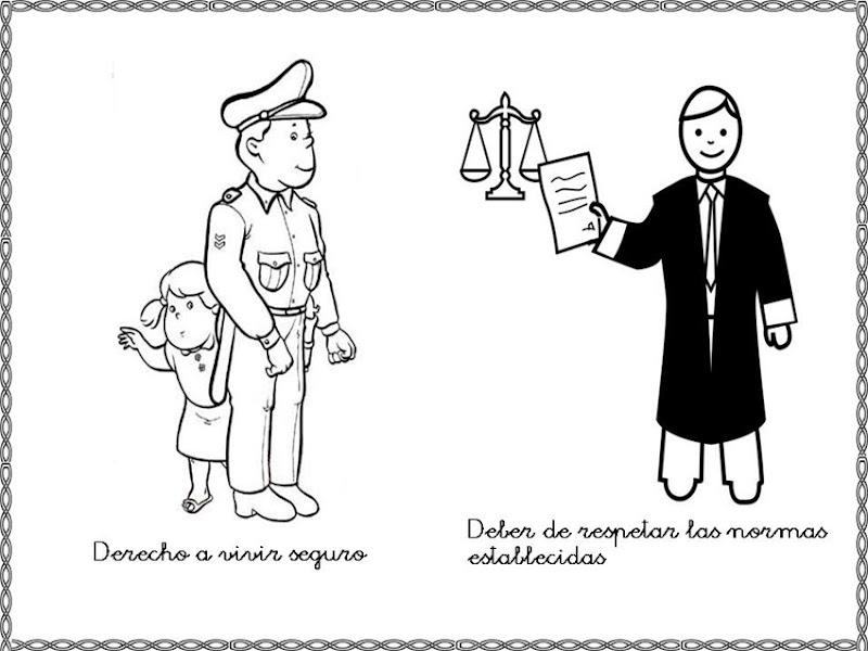 Dibujos Para Colorear Derechos Y Deberes Del Niño