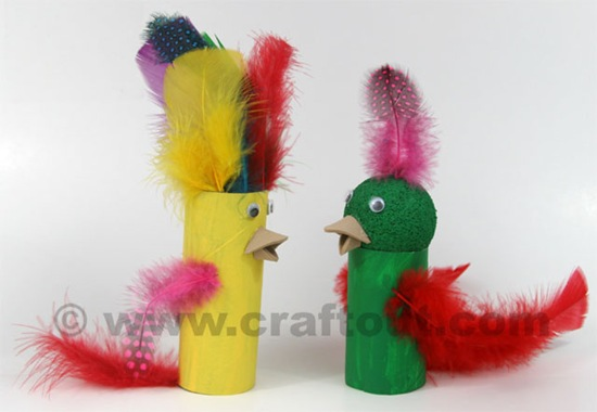 parrot_paper_roll_feather_craft