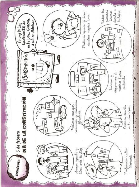 Dibujos Para Colorear Constitución Mexicana Colorear Dibujos