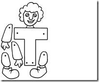 T abecedario completo letras títeres articulados para recortar