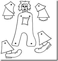 A abecedario completo letras títeres articulados para recortar