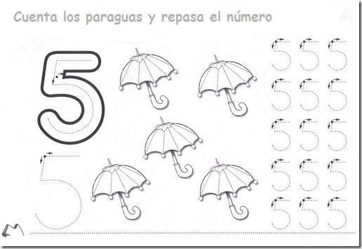 Matemáticas, repasar, colorear números del 1 al 5 | Colorear dibujos ...