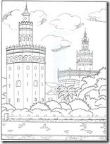 blogcolorear-com Torre del Oro de Sevilla