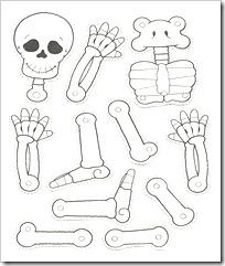 Día De Los Muertos Esqueletos Colorear Recortar Armar Colorear